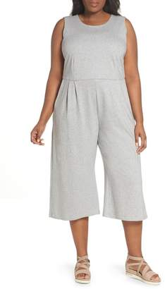 Eileen Fisher Crop Cotton Knit Jumpsuit