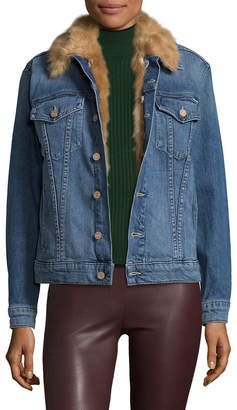 Mother Accented Denim Jacket