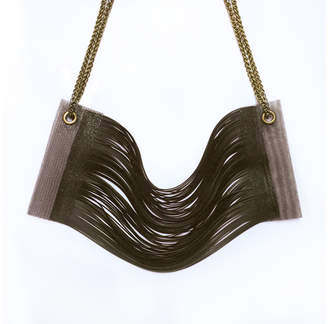 Motley Collections Graphite Wave Necklace