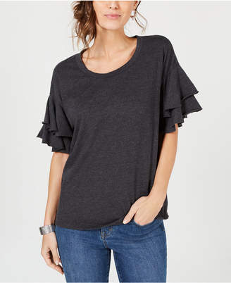 Style&Co. Style & Co Ruffle-Sleeved Top, Created for Macy's
