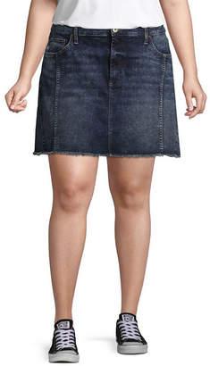 Arizona Princess Seamed Denim Skirt-Juniors Plus