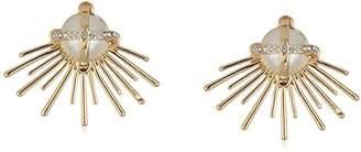 Danielle Nicole Rock Silver Stud Earrings