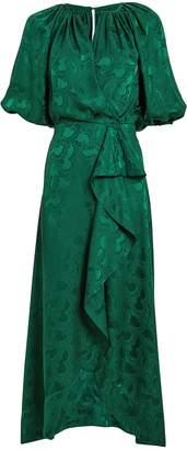 Saloni Olivia Satin Jacquard Dress