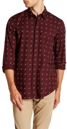 Theory Levy Cross Box Regular Fit Sport Shirt