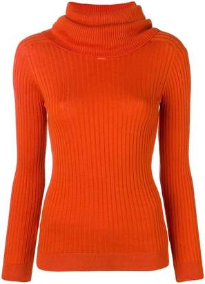 Courreges roll neck fitted sweater