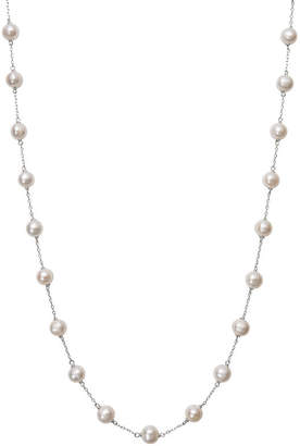 FINE JEWELRY Womens Cultured Freshwater Pearl 10K White Gold Strand Necklace