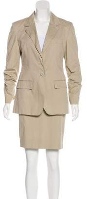 Burberry Notch-Lapel Knee-Length Skirt Suit