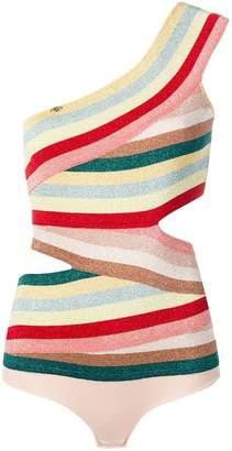 Elisabetta Franchi multicoloured one shoulder vest