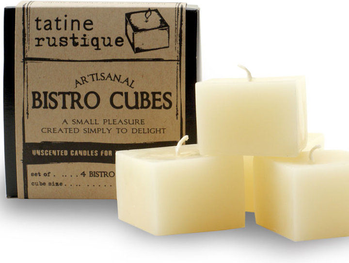 Tatine Candles Bistro Cubes set of 4