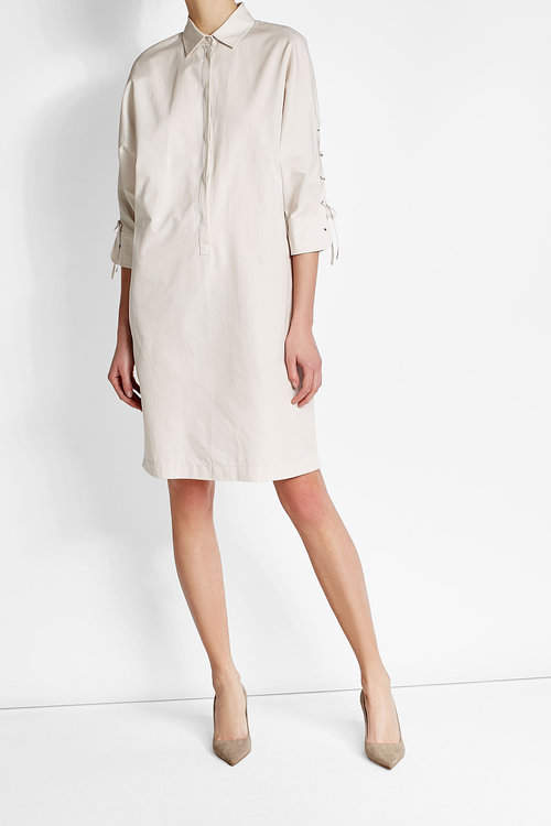 Max MaraMax Mara Cotton Dress with Lace-Up Detail