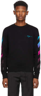 Off-White Black Diagonal Gradient Crewneck Sweatshirt