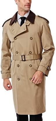 Ike Behar Men's Classic-Fit Double-Breasted Rain Jacket