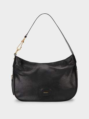 DKNY Randall Hobo With Oversized Dog Leash Detail