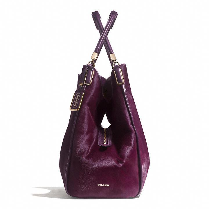 Coach Madison Large Phoebe Shoulder Bag In Mixed Haircalf