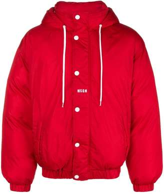 MSGM hooded padded jacket