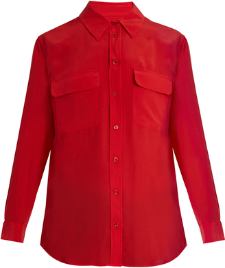 EQUIPMENT Signature washed-silk shirt $216 thestylecure.com