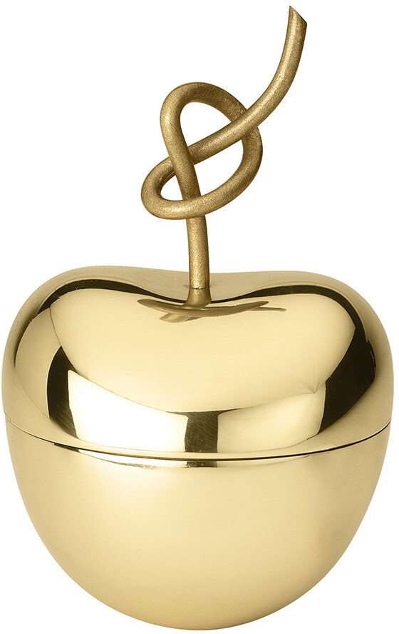 Ghidini 1961 - Knotted Cherry Trinket Box - Brass - Medium