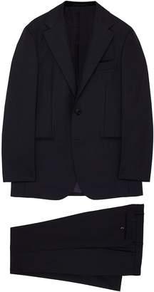 Ring Jacket 'No. 269E' windowpane check wool suit