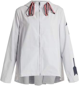The Upside Dupont ash hooded performance jacket
