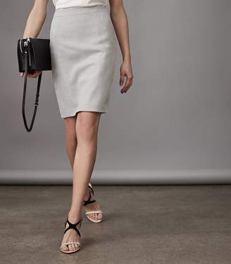Reiss Haven Skirt - Knee Length Pencil Skirt in Grey