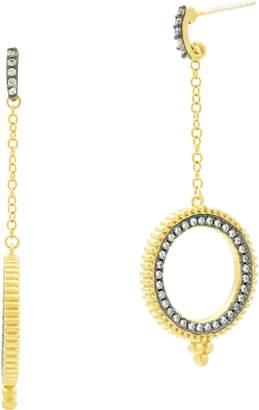 Freida Rothman Imperial Open Circle Drop Earrings