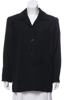 Saint Laurent Collared Button-Up Jacket