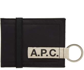 A.P.C. Lucky Nylon Tape Logo Wallet