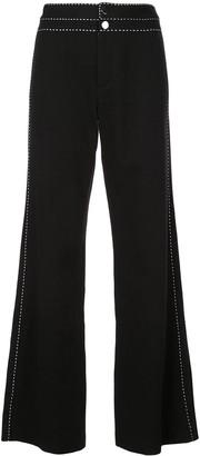 Josie Natori wide leg jeans