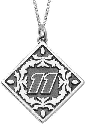 """Insignia Collection NASCAR Denny Hamlin """"11"""" Stainless Steel Pendant Necklace"""