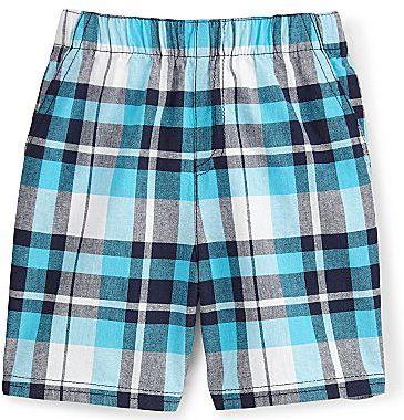 JCPenney Okie Dokie® Plaid Shorts - Boys 12-24m