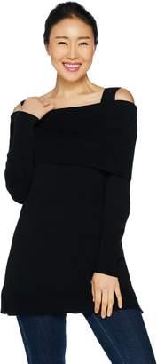 Isaac Mizrahi Live! Convertible Cold Shoulder Sweater Tunic
