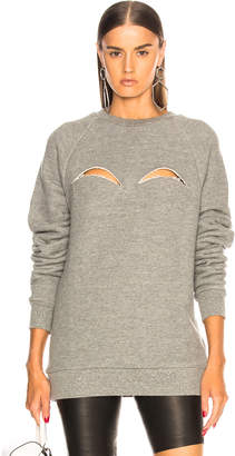 Maison Margiela Melange Fleece Cutout Sweatshirt