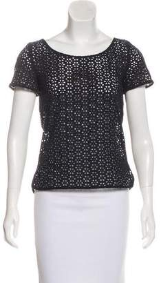 Cacharel Cutout Short Sleeve Top