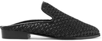 Clergerie - Alice Raffia Slippers - Black