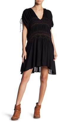 Free People Embroidered Short Sleeve Dress