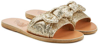 Ancient Greek Sandals Taygete Bow Sequin Sandals