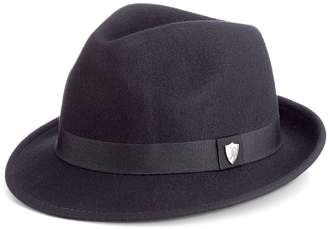 Scala Men's Wool Felt Snap-Brim Fedora
