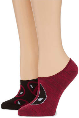 Asstd National Brand 2 Pair Liner Socks - Deadpool