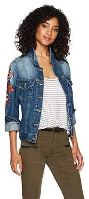 Miss Me Women's Embroidered Denim Jacket