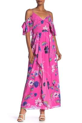Rachel Roy Floral Cold Shoulder Maxi Dress