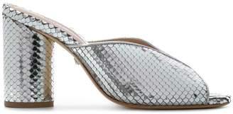 Schutz embossed open toe sandals