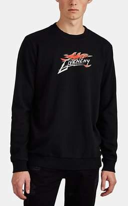 Givenchy Men's Flame Logo Cotton Terry Sweatshirt - Black