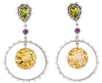 14K Multi Stone Drop Earrings