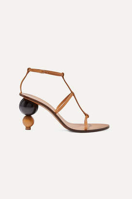 Cult Gaia Eden Leather Sandals - Tan