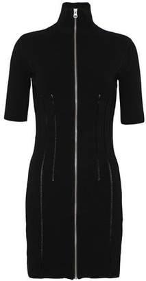 McQ Cutout Open-Knit Mini Dress