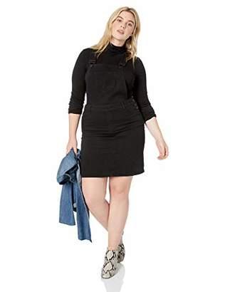 Dollhouse Women's Size Plus Denim Overall