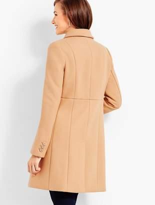 Talbots Ruffle Melton Coat
