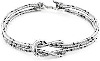 ANCHOR & CREW - Grey Dash Foyle Silver & Rope Bracelet