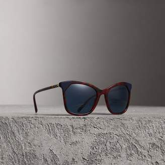 Burberry Tortoiseshell Square Frame Sunglasses