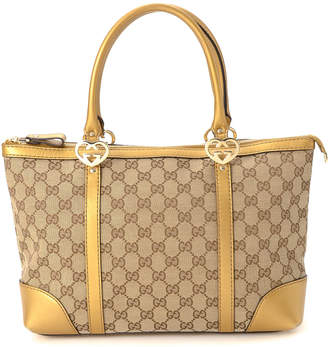 Gucci Lovely Heart-Shaped Interlocking G Tote - Vintage